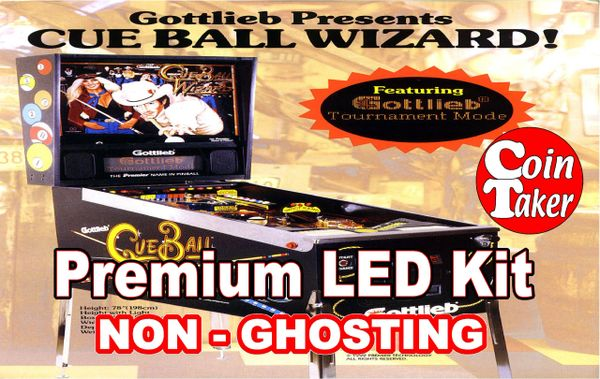 CUE BALL WIZARD LED Kit with Premium Non-Ghosting LEDs