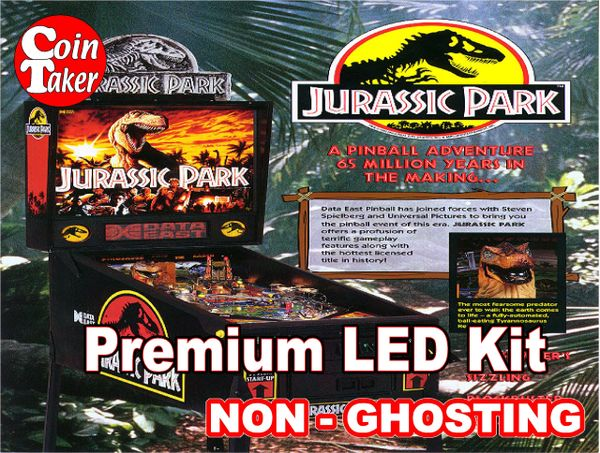1. JURASSIC PARK Data East 1993 LED Kit with Premium Non-Ghosting LEDs