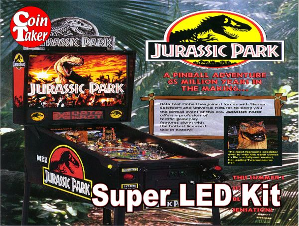 2. JURASSIC PARK Data East 1993 LED Kit w Super LEDs