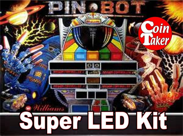 2. PINBOT RED AND BLUE LED Kit w Super LEDs