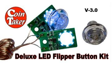 LED FLIPPER BUTTON KIT DELUXE