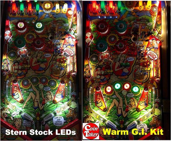 WHOA NELLIE BJM PLAYFIELD GI UPGRADE LED Kit w Frosted LEDs