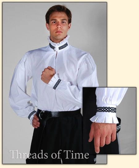 Nobleman Shirt - Plain, Celtic, and other Embroideries