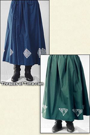 Wench Skirt - Celtic Border, and Plain