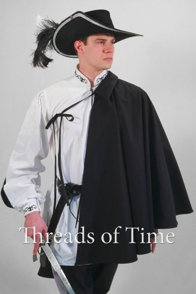 Swordsman Cape / Cloak - Short Cape -Half Shoulder Cape
