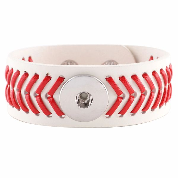 LEATHER 1 Snap 1 12 wide BRACELET Top /& Side Dyed ASSORTED Color