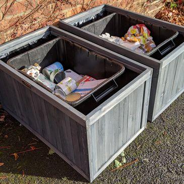 BinGarden 3-in-1 Single Wheelie Bin Store Cover 2 Recycle Recycling Box Storage