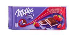 GER_Milka Milk Chocolate With Strawberry Yogurt 100g 德国Milka草莓味酸奶巧克力 100克