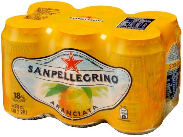Drinks_San Pellegrino Aranciata 6 pack cans 6 x 330mL