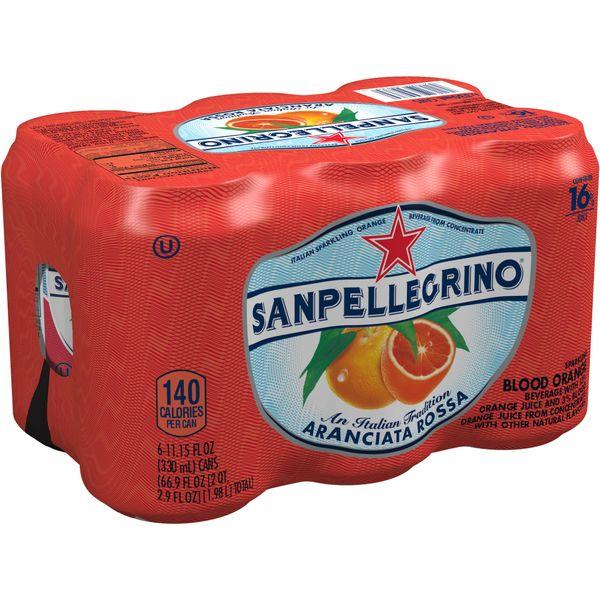 Drinks_San Pellegrino 6 Pack Blood Orange Beverage 6 x 330ml