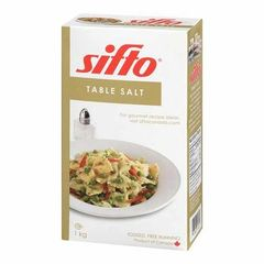 Salt_Sifto Table Salt Iodized Free-Running 1kg 精制食盐1公斤盒