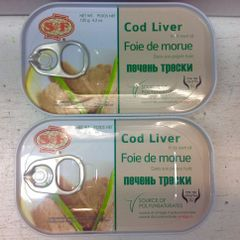 RUS_S&F Cod Liver Packed In ITS Own Oil 120g