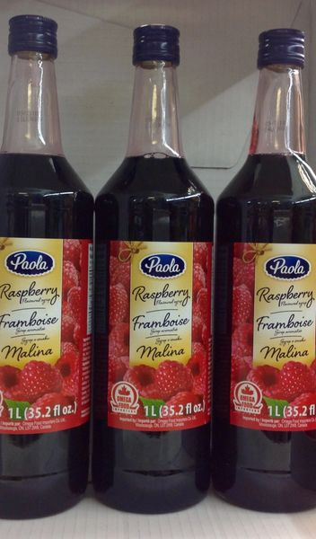 POL_Paola Syrup Raspberry 1L (No Shipping, Pick-Up Only)