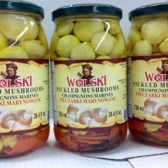 POL_Wolski Pickled Mushrooms750ml (No Shipping, Pick-Up Only)