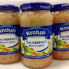POL_Krakus Sauerkraut With Carrot 900ml