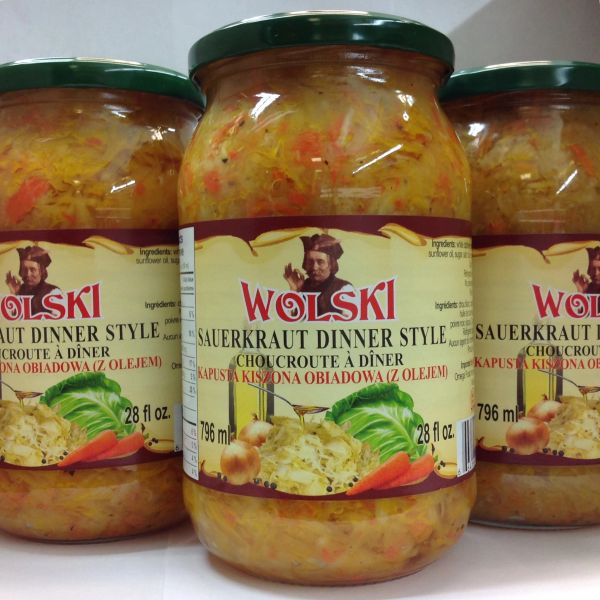 POL_Wolski Sauerkraut Dinner Style 796ml (No Shipping, Pick-Up Only)