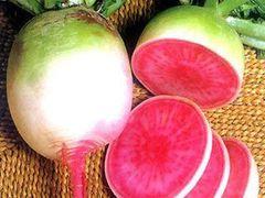 Organic Daikon Radish red heart 有机心里美萝卜3颗,约2磅