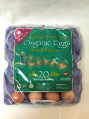 Dairy_RRF Jumbo Organic Eggs 20 Counts Flat/RRF 本地RRF特大有机素食走地鸡蛋20个板