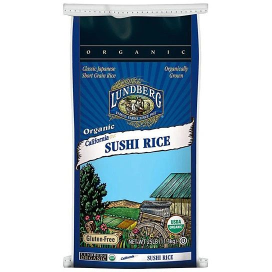 Grain_Lundberg Family Farms Organic Sushi Rice 25 lb 加州有机寿司米25磅袋