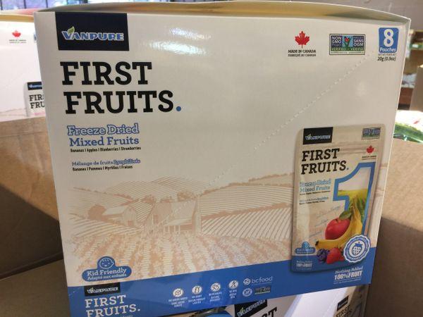 Freeze Dried Mixed Fruits Mixed Box /加拿大冻干水果 100%纯水果 混装/箱8包