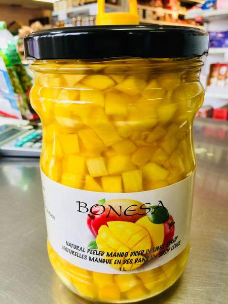 Pro_Peeled Peru Mango 秘鲁芒果切丁罐头1升装【甜品店适用】
