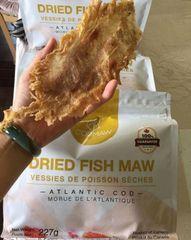 Canadian certified Wild dried fish maw 100%认证纯天然野生鱼胶半磅袋