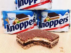 (Order for Over $188) Knoppers 1 Bag (满$188选一份,每单限一份礼物)德国Knoppers威化饼干一袋24枚入