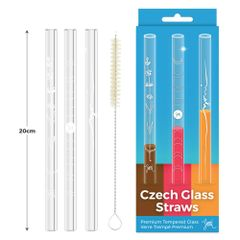 Czech Glass Straws 3 pieces 捷克耐热耐高温透明玻璃吸管(3根,送吸管刷)