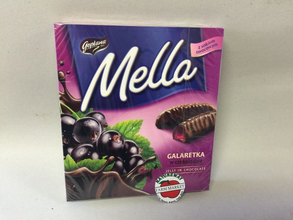 POL_Mella Jelly in Chocolate Black Currant 190g