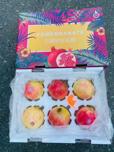 Soft seed pomegranate 空运云南特大软籽石榴6颗礼盒