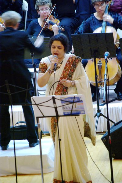 Rujuta - singing at a fund-raising event with Michigan Philharmonic