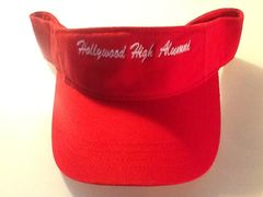 HOLLYWOOD HIGH ALUMNI VISOR (RED BACKORDERED)