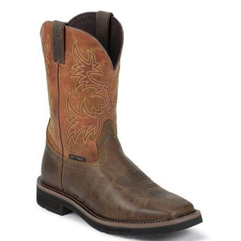 Justin Men's Rugged Tan, Comp Safety Toe Work Boot