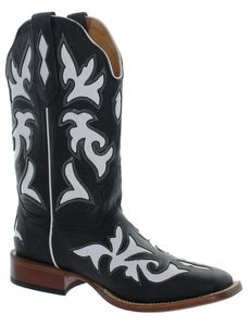 Women's Johnny Ringo White Inlay Square Toe Western Boot