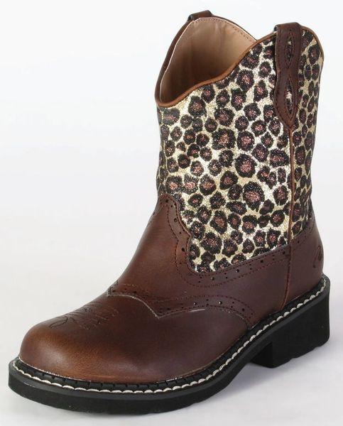 Roper Kids Leopard Glitter Pink or Brown