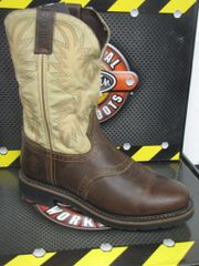Justin Men's Waxy Brown W/ Perfed Saddle Vamp Work Boot
