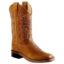 Children's Old West Tan Boot