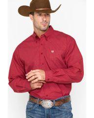 Red Plaid Cinch Shirt