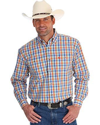 Wrangler Plaid Orange