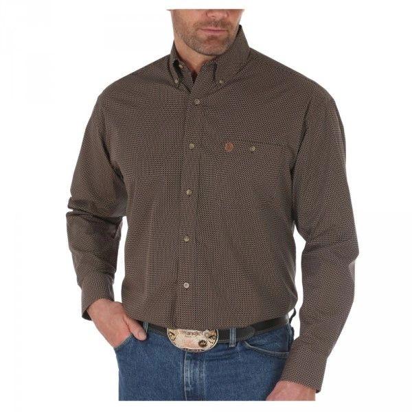 George Strait Circle Print Wrangler Western Shirt