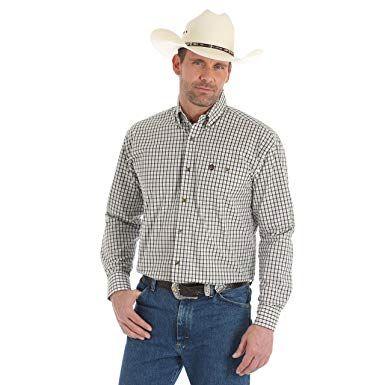 George Strait Checkered Print Wrangler Shirt