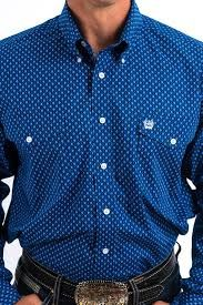 Cinch Squared Dotted Shirt
