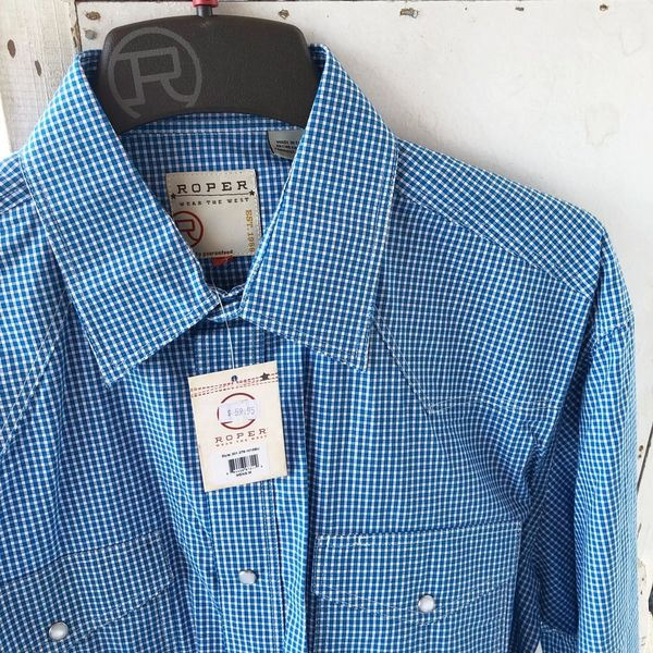 Roper Amarillo Crystal Blue Shirt