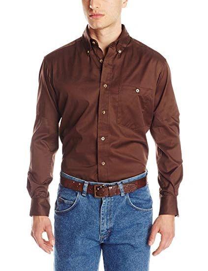 Trevor Brazile Relentless By Wrangler Solid Brown Western Shirt