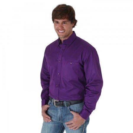 Wrangler 20X Purple Button Down