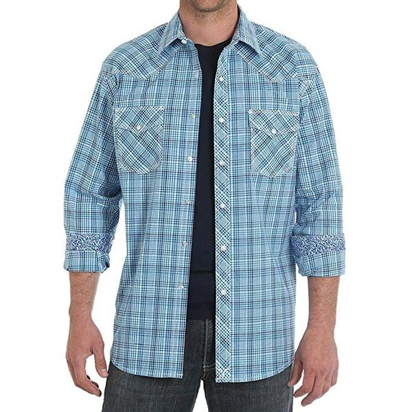 Wrangler Mens 20x Western Long Sleeve