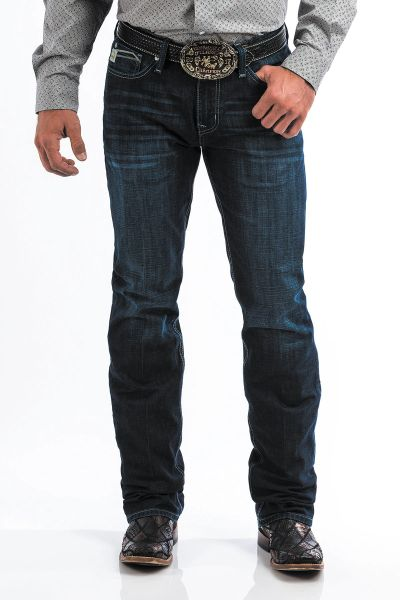 Mens Slim Fit Ian Straight Leg Dark Stonewash