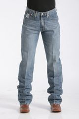 Mens Relaxed Fit White Label Jeans - Medium Stonewash