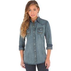Wrangler Womens Shirt Denim