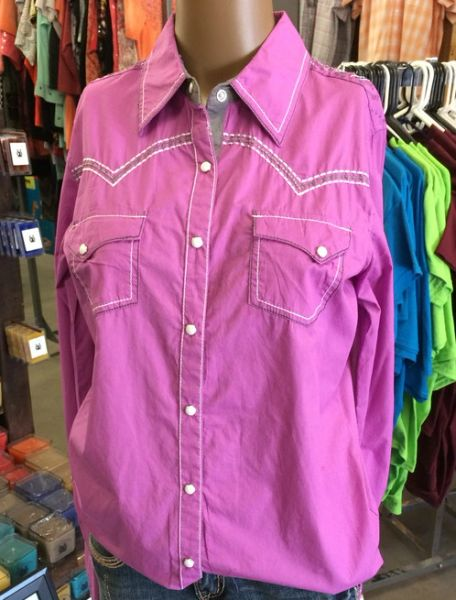 CowGirl Up Pink Western Shirt